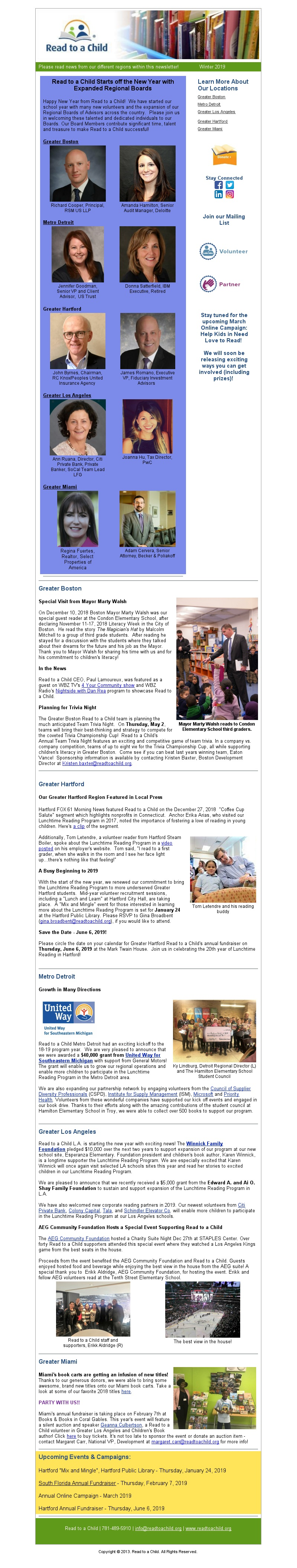 News, Press and Events | Read to a Child